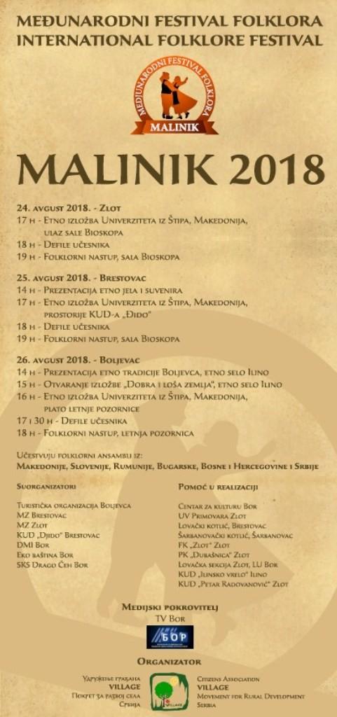 Program Malinik 2018