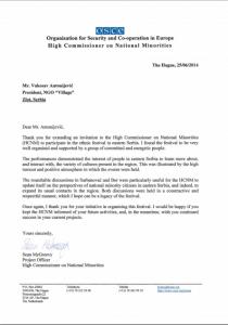 pismo HCNM